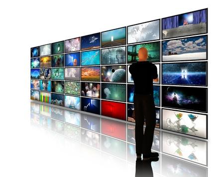 Man viewing video displays photo