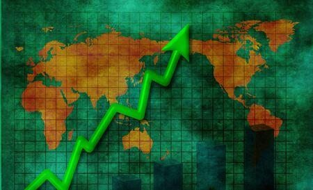 Upward business abstract Stok Fotoğraf