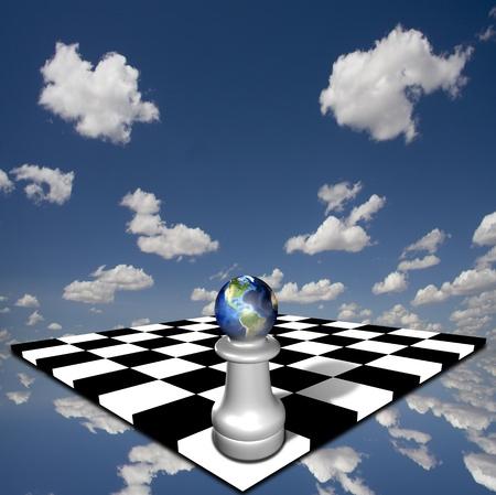 tourney: Earth pawn Stock Photo