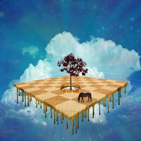 Surreal floating landscape Banque d'images