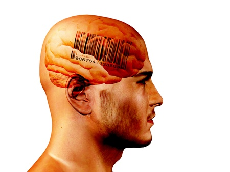 Barcode on brain photo