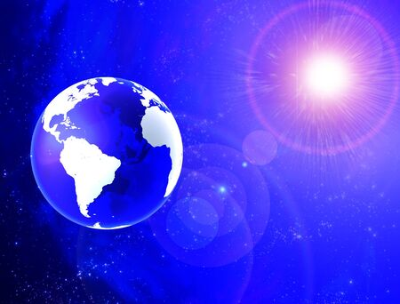 world wide web: Transparent earth Stock Photo