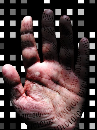 Human Binary Hand photo