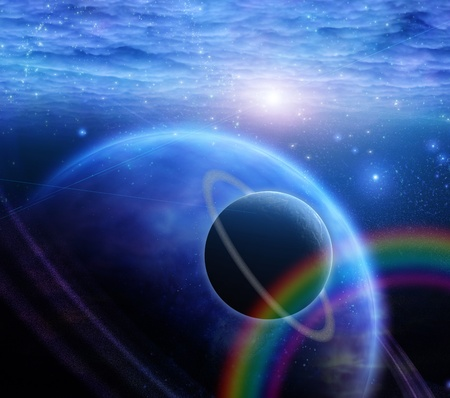 Atmosphere and planets Stock Photo - 12427512