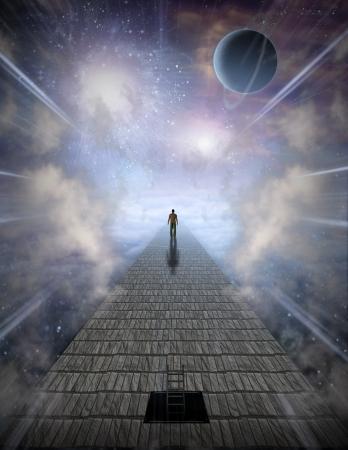 concept magical universe: Mans Viaje del Alma
