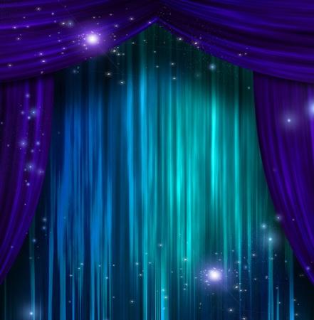 curtain theater: Las cortinas del teatro Foto de archivo