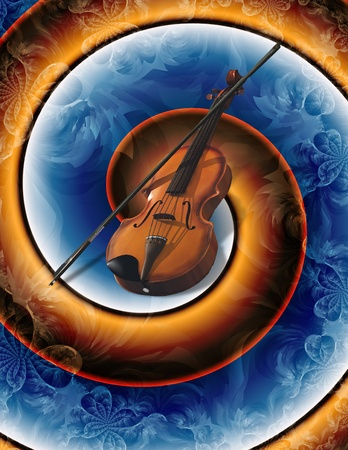Modern Art violin abstract Stock Photo - 12427598