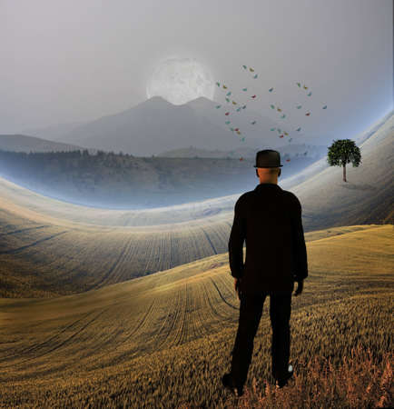rest in peace: Man confronts his inner landscape