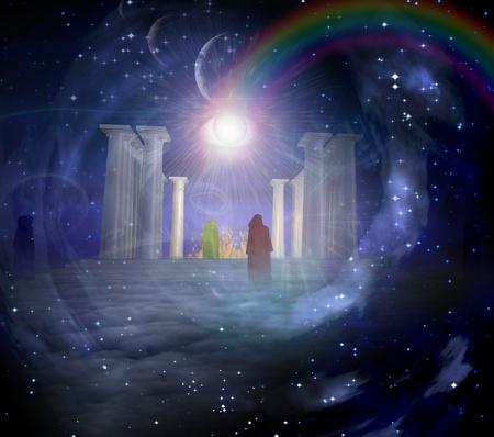 Tempel in spiritualy gebaseerd samenstelling