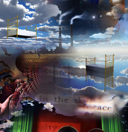 surrealism: Sleep factory composition