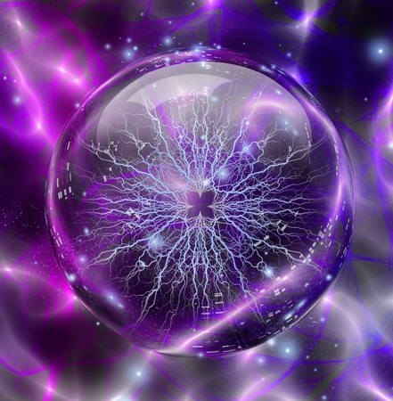 enclosed: Electric enclosed in sphere Stock Photo