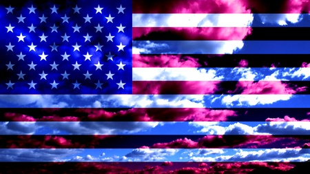 fallen: USA Flag and Clouds Design