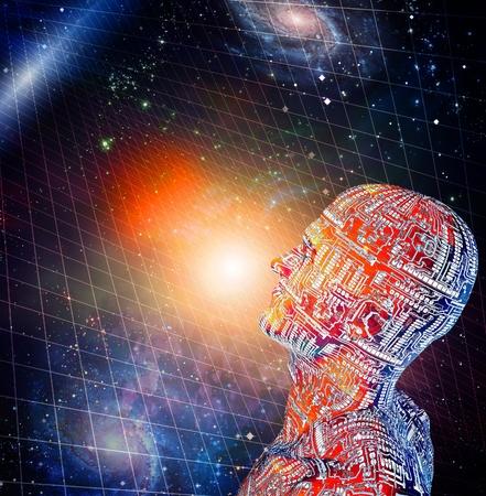 human like: Human like figure and space