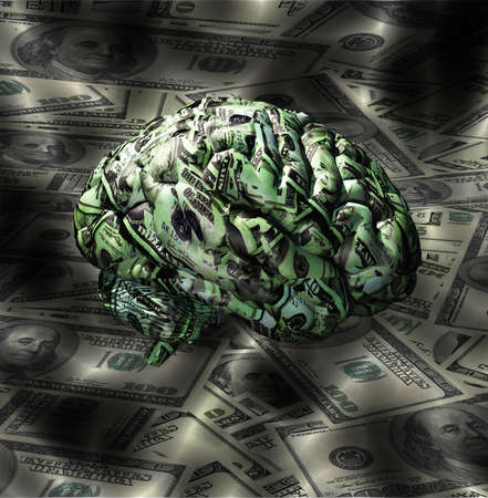 Brain composed of US Currency Stock Photo - 12784533