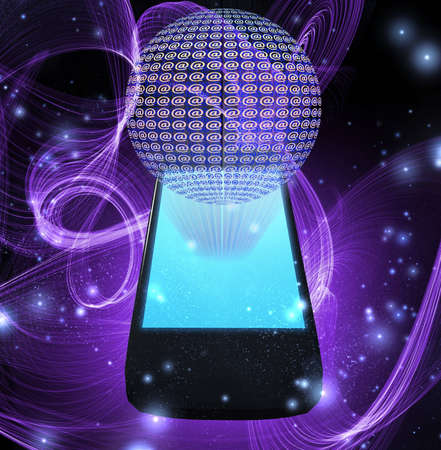 AT symbol mobile phone photo