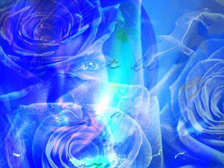 Woman Floral concept photo