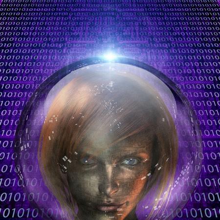Machine Human Girl Stock Photo - 12784598