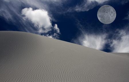 unrealistic: White sands New Mexico USA