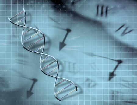 Clock and DNA photo