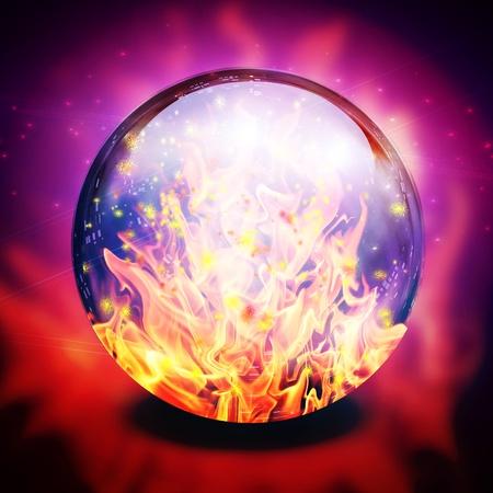 adivino: Fuego en la esfera adivinos