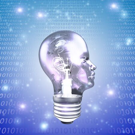 Head Light Bulb with Binary photo