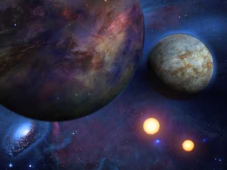 Planets and suns Stock Photo - 13109626