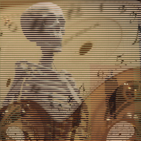 judgement day: Time and skeltal figure abstraction Stock Photo