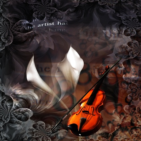 music instrument: Violin Abstract