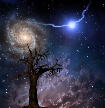 kosmos: Baum-und Raumfahrt Lizenzfreie Bilder