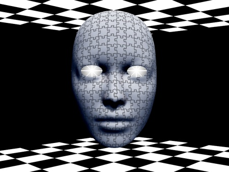 Puzzle Mask Stock Photo - 13273519