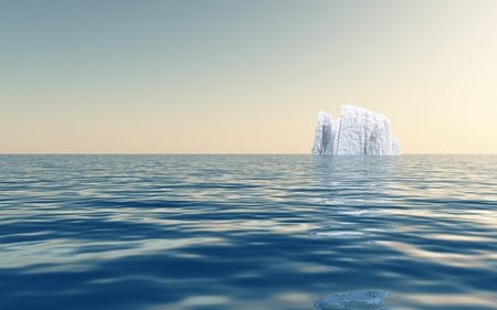 High Resolution Iceberg in open sea photo