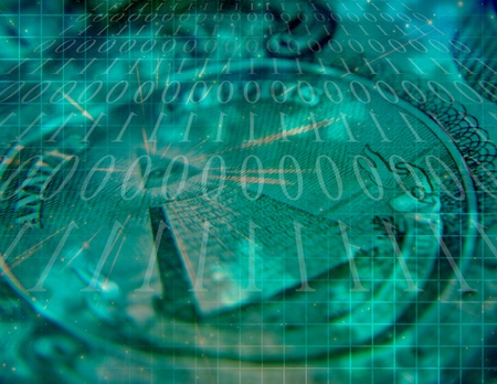 Binary COde and US Currency Abstract photo
