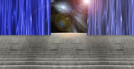 otherworldly: Curtained Stairway
