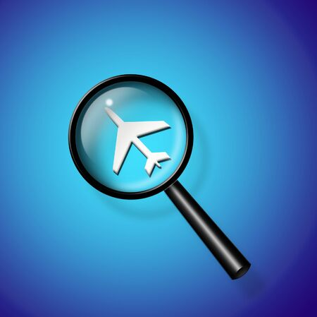 liftoff: Air travel search Stock Photo