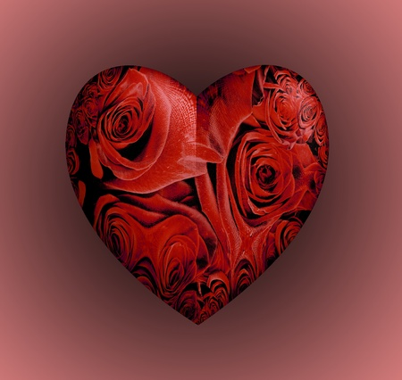 3D Red Roses Heart Stock Photo - 13274730
