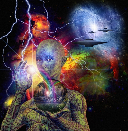 alien face: Sci Fi Scene
