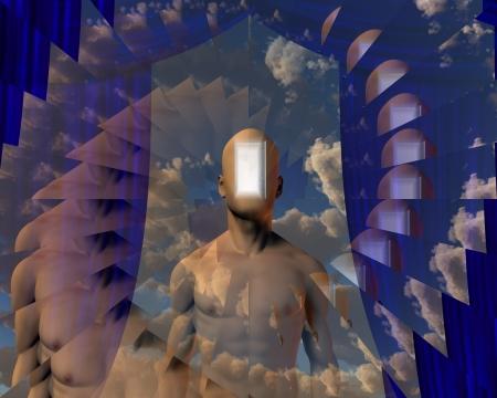 open mind:  Doorway in Human Mind and Sky