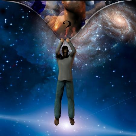 concept magical universe: Bajo Foto de archivo