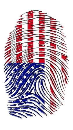 finger proof: USA Fingerprint