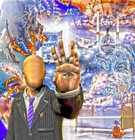 Hallucinigenic abstract Banque d'images