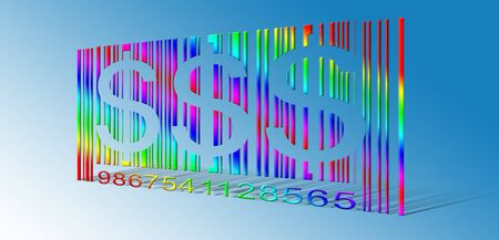 Dollar Rainbow Bar Code