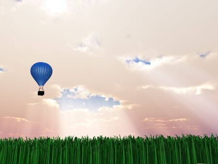 ascend: Hot Air Balloon in Sky