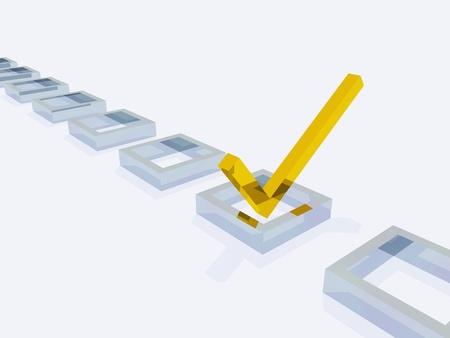 Three Dimension Check Mark