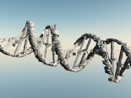human chromosomes: Damaged DNA Strands Stock Photo