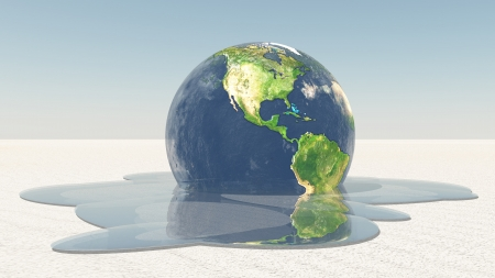 Earth melting into water