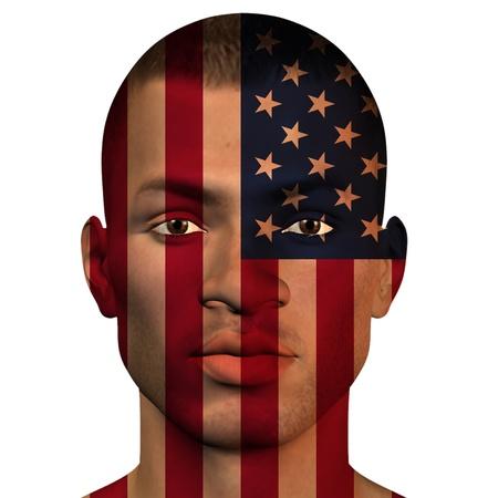 USA MAN  Isolated on White photo