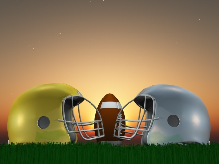 nfl: Football Helmet Composition Stock Photo