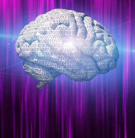 Binary brain photo