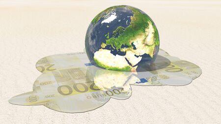 Europe euro melt  photo