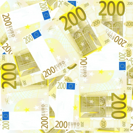 endlos: Nahtlos kachelbare 200 Euro s background